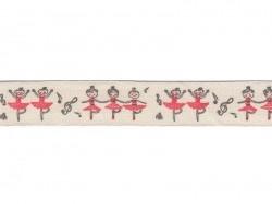 Grosgrain ribbon (1 m) - dancers (15 mm)