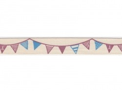 Grosgrain ribbon (1 m) - bunting (15 mm)