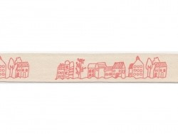 Grosgrain ribbon (1 m) - Village (20 mm)