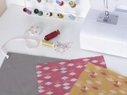 Coupon de tissu à motifs framboise