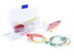 Multi-row summer bracelet kit - rocaille beads/seed beads