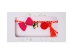 Bracelet tressé rose