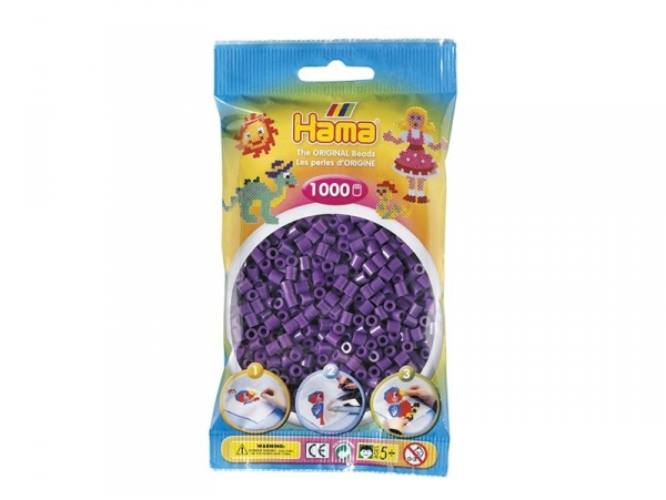Sachet de 1000 perles HAMA Midi - violet 07 Hama - 1