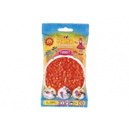 Sachet de 1000 perles HAMA Midi - orange 04 Hama - 1