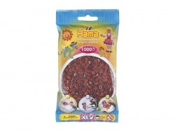 Bag of 1,000 HAMA MIDI beads - burgundy Hama - 1