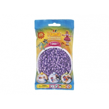 Sachet de 1000 perles HAMA Midi - violet paste 45 Hama - 1