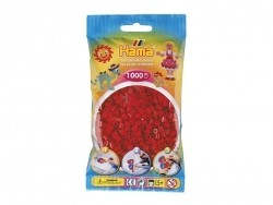 Bag of 1,000 HAMA MIDI beads - Christmas red Hama - 1