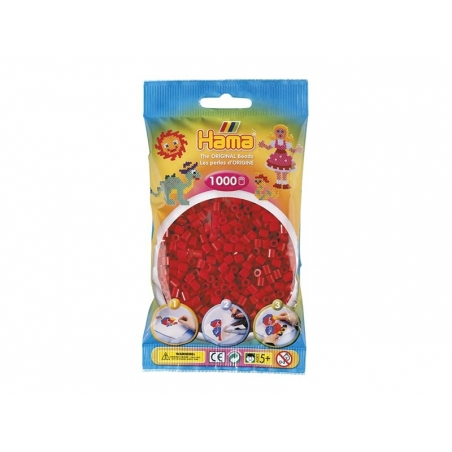 Sachet de 1000 perles HAMA Midi - Rouge Noël 22 Hama - 1