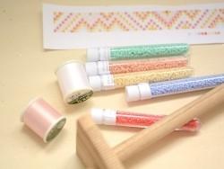 Bobine de fil pour tissage de perles - 50m - blanc