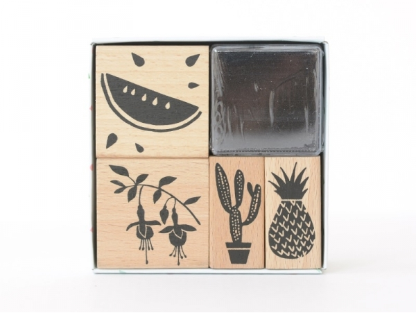 """""""Tropical Spring"""" stamp set - watermelon"""