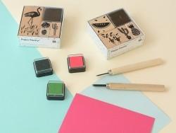"""""""Tropical Spring"""" stamp set - flamingo"""