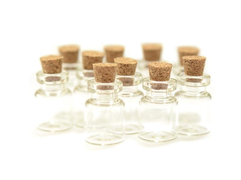 Acheter 10 fioles en verre 2,8 cm - 8,00€ en ligne sur La Petite Epicerie - Loisirs créatifs