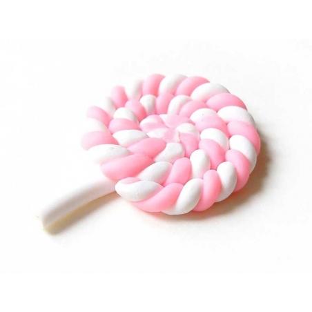 Cabochon Sucette Lollipop Rose