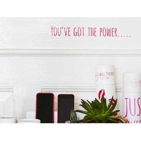 """Acheter Stickers mural """"You've got the power..."""" - 11,90€ en ligne sur La Petite Epicerie - Loisirs créatifs"""