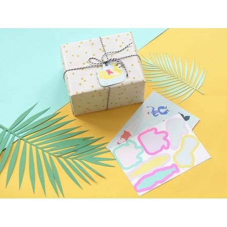 12 étiquettes cadeaux - nageurs RICE - 2