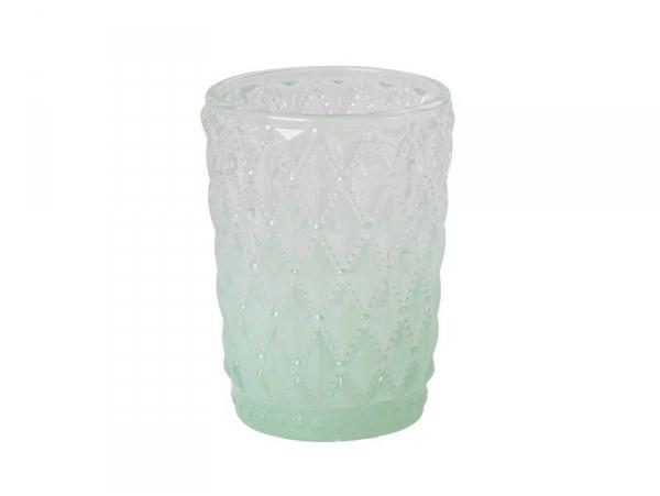 Photophore en verre dip dye - vert