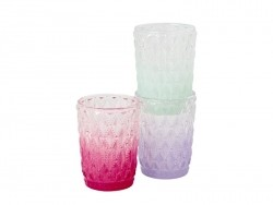 Dip dye glass candle holder - green