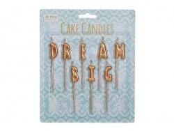 """Candles - """"Dream big"""""""