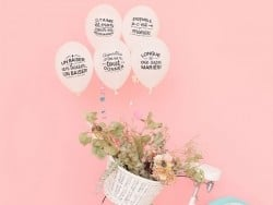 Balloons for an unforgettable wedding (in French)