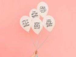 Ballons pour Noces inoubliables - anglais