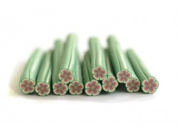 Daisy cane - pink and green