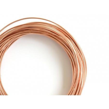 10 m de fil aluminium - rosegold