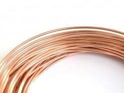 10 m de fil aluminium - rosegold  - 1
