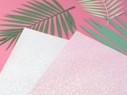 Scrapbookingpapier - weiß/Glitzer
