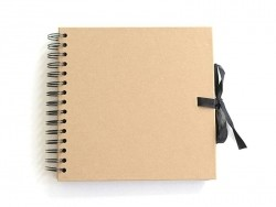 Small scrapbooking album - kraft paper/natural
