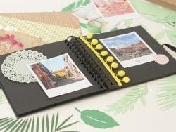 Petit album photo - carton noir