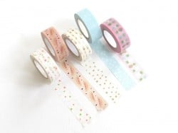 Set of 5 masking tapes -...