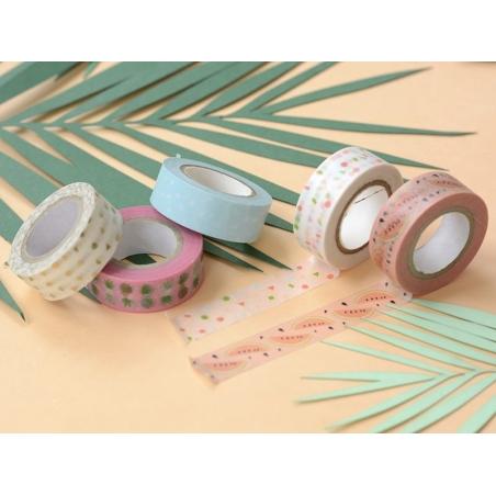 Set of 5 masking tapes - watermelon/pineapple Rico Design - 2