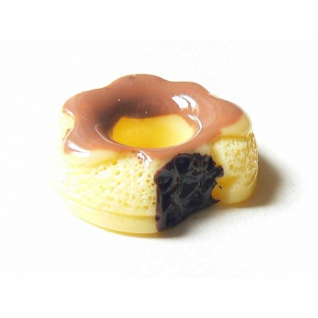 Chocolate-filled doughnut cabochon