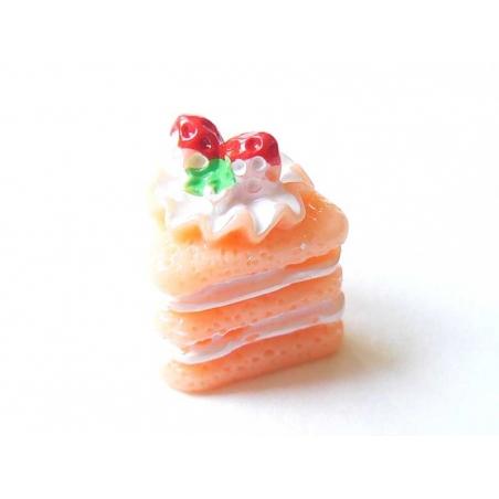 Cabochon part de gâteau à la framboise  - 3