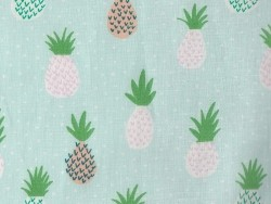 Fabric with a print - pineapple