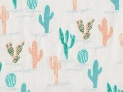 Fabric with a print - cactus