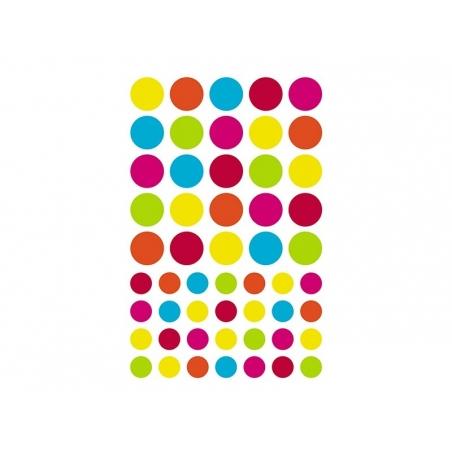 """20 planches de gommettes géométriques """"Initial"""" - vif & pastel"""