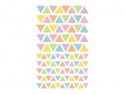 """20 sheets with geometric stickers - """"Initial"""" - bright/pastel colours"""