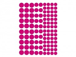 15 planches de gommettes rondes - multicolores