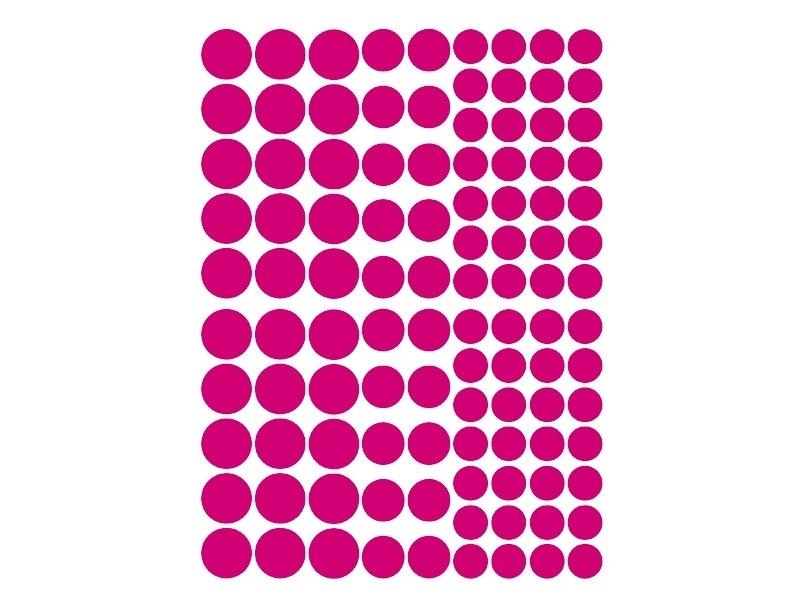 15 planches de gommettes rondes - multicolores  - 1