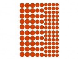 15 planches de gommettes rondes - multicolores  - 4