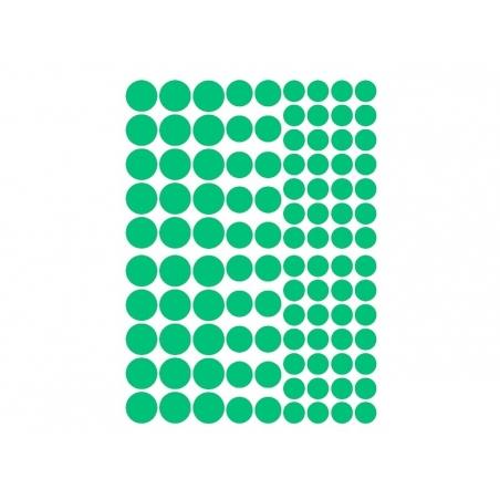 15 planches de gommettes rondes - multicolores  - 2