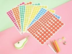 15 planches de gommettes rondes - multicolores  - 3