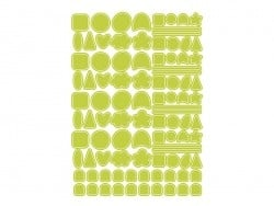 4 sheets with round stickers - different colours