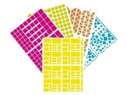 "50 sticker sheets - different shapes - ""Basic"" - different colours"