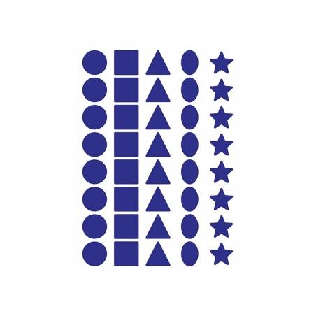 12 planches de gommettes 5 formes - multicolores  - 2