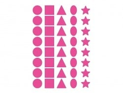 12 planches de gommettes 5 formes - multicolores  - 4