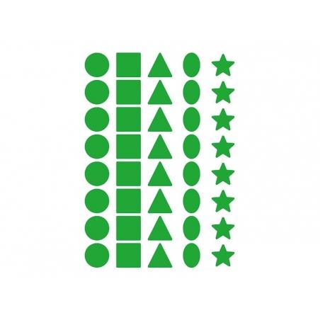 12 planches de gommettes 5 formes - multicolores  - 5