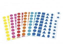 12 planches de gommettes 5 formes - multicolores