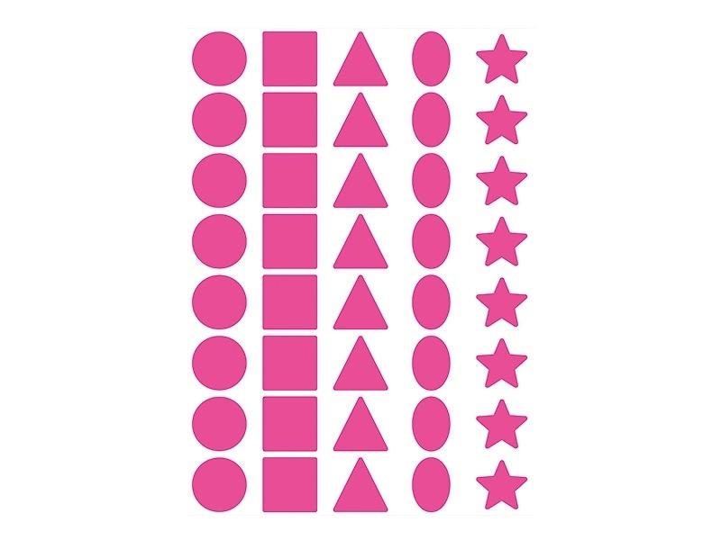 60 planches de gommettes 5 formes - multicolores  - 1